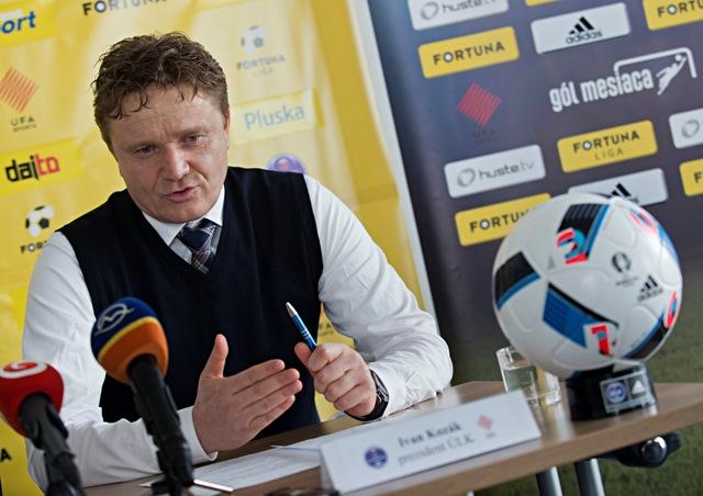Na snímke prezident Únie ligových klubov (ÚLK) Ivan Kozák