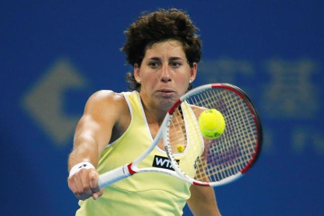 Na snímke španielska tenistka Carla Suarezová Navarrová
