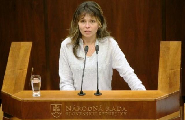 Na snímke poslankyňa NR SR Helena Mezenská