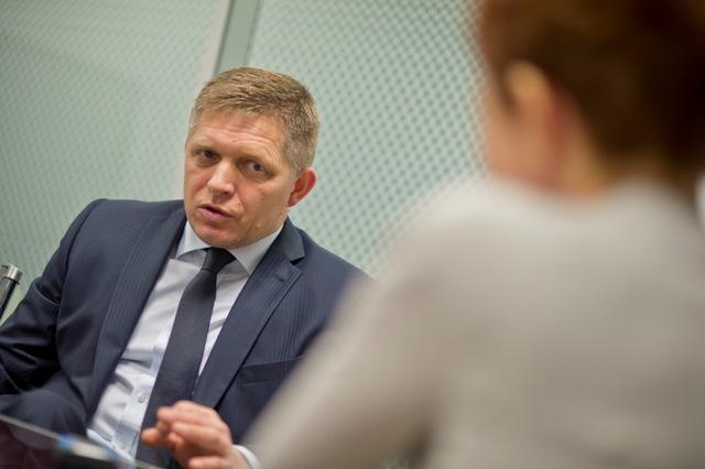 Na snímke predseda strany Smer-SD Robert Fico počas rozhovoru pre Tlačovú agentúru Slovenskej republiky