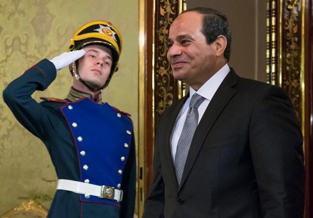 Na snímke egyptský prezident Abdal Fattáh Sísí