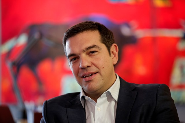 Na snímke Alexis Tsipras