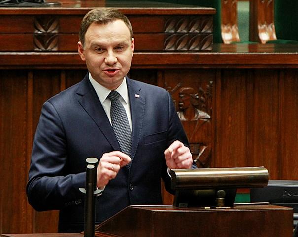 Na snímke poľský prezident Andrzej Duda