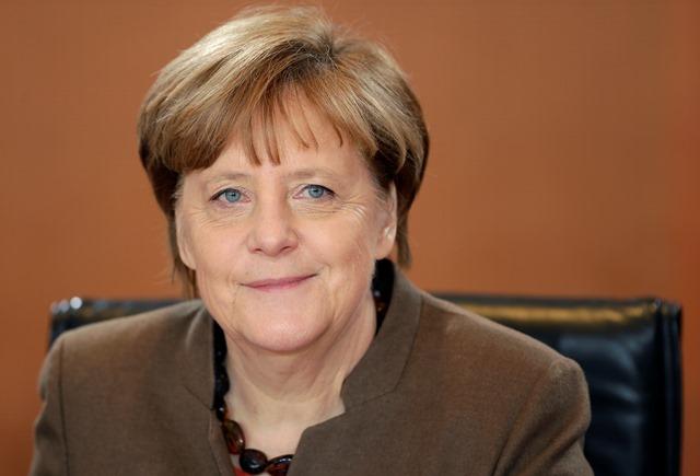 Na snímke Nnemecká kancelárka Angela Merkelová