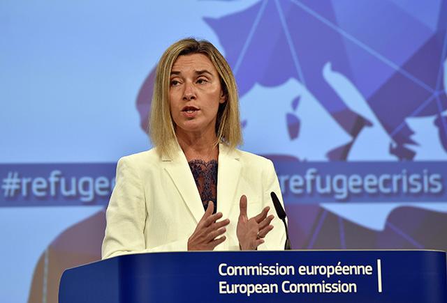 Vysoká predstaviteľka EÚ pre zahraničné veci a bezpečnostnú politiku Federica Mogheriniová.