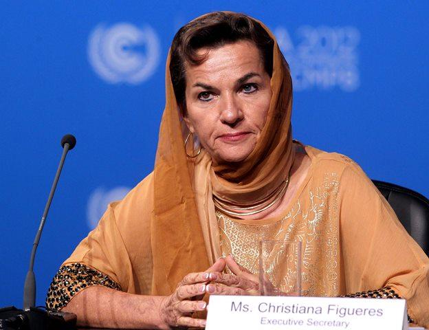 Na snímke reční šéfka Sekretariátu OSN pre klimatické zmeny  (UNFCCC) Christiana Figueresová