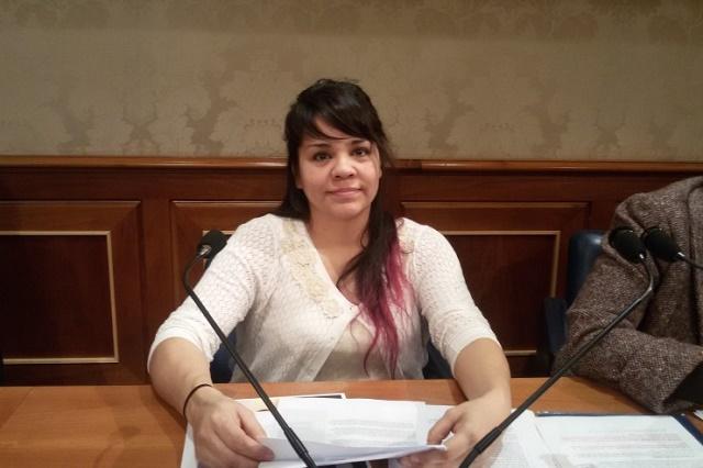 Na snímke Elisa Anne Gomezová v talianskom parlamente