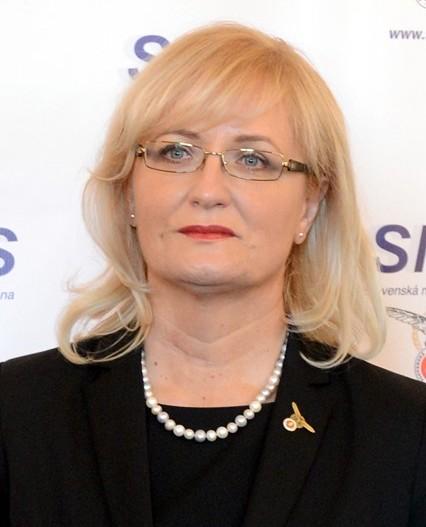 Na snímke podpredsedníčka Slovenskej národnej strany (SNS) Eva Smolíková