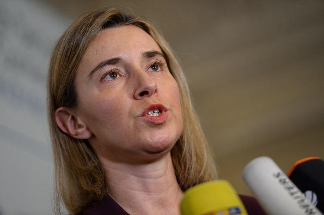 Na snímke vysoká predstaviteľka EÚ pre zahraničnú politiku Federica Mogheriniová