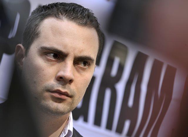 Na snímke predseda krajne pravicového Hnutia za lepšie Maďarsko-Jobbik Gábor Vona
