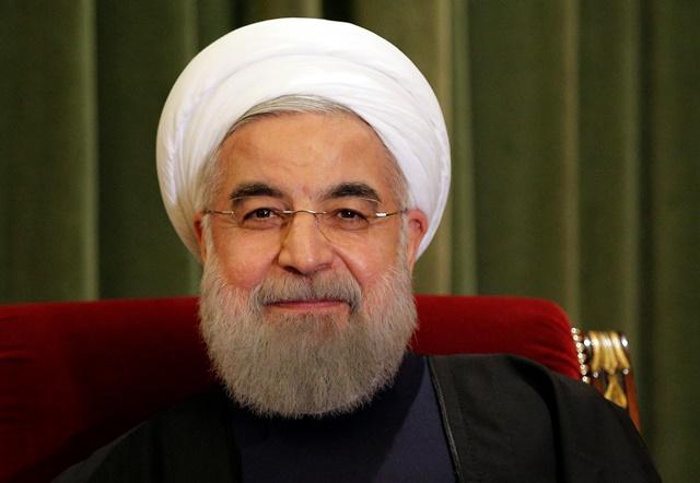 Na snímke iránsky prezident Hasan Rúhání