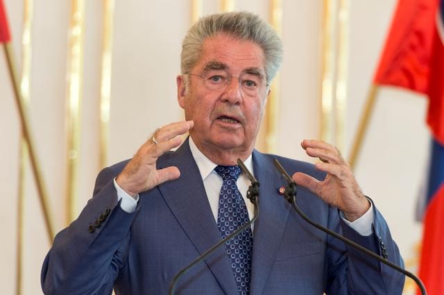 Na snímke prezident Rakúskej republiky Heinz Fischer