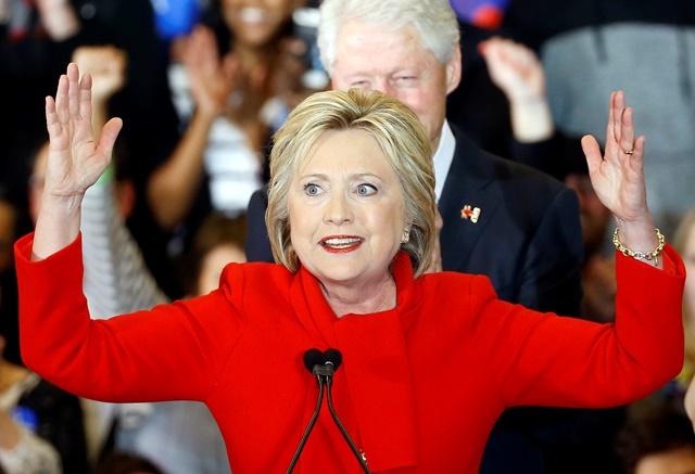 Na snímke demokratická prezidentská kandidátka Hillary Clintonová