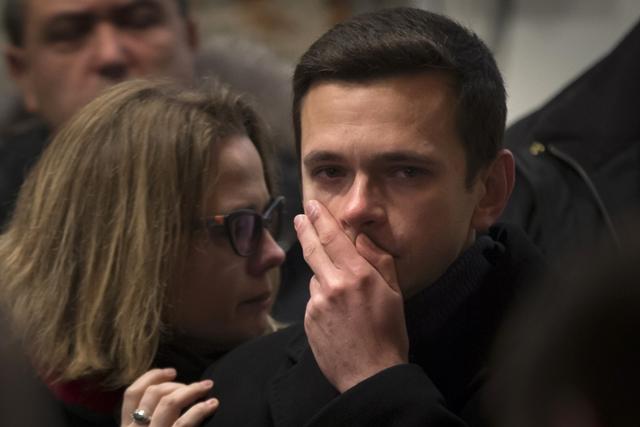 Na snímke opozičný líder Iľja Jašin