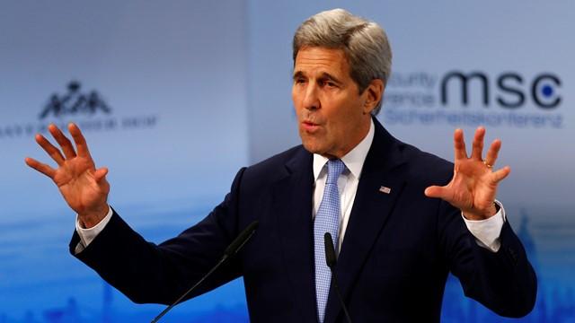Na snímke americký minister zahraničných vecí John Kerry