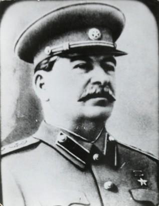 Na snímke Josef Stalin