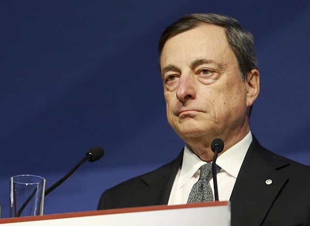Na snímke šéf Európskej centrálnej banky Mario Draghi.