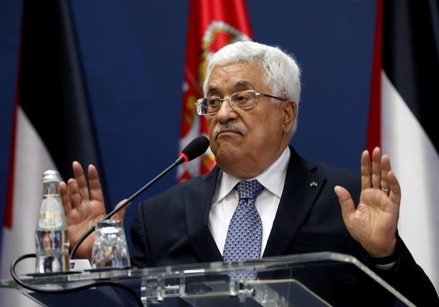 Na snímke palestínsky prezident Mahmúd Abbás