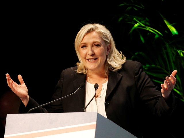 Na snímke líderka krajne pravicového Národného frontu (FN) Marine Le Penová