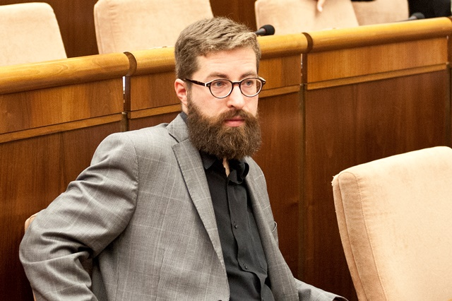 Na snímke v popredí poslanec NRSR Martin Poliačik (SaS)