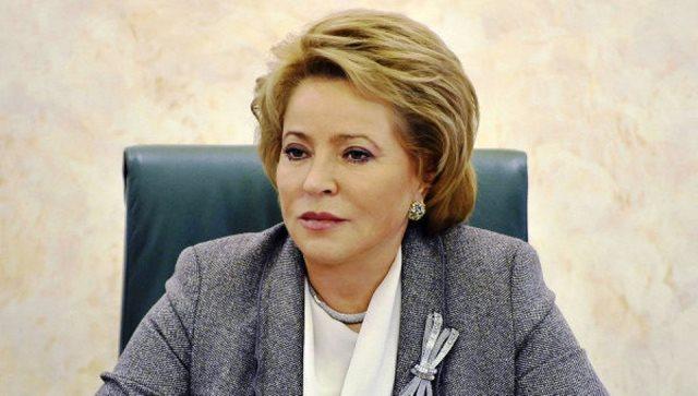 Na snímke predsedníčka Rady federácie Ruska Valentína Matvijenková