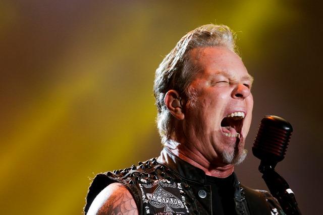 Na snímke gitarista a spevák James Hetfield z americkej thrash metalovej skupiny Metallica