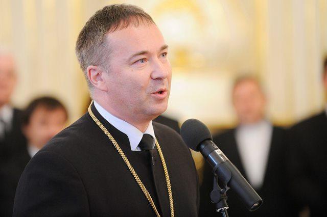 Na snímke generálny biskup Evanjelickej cirkvi augsburgského vyznania na Slovensku Miloš Klátik
