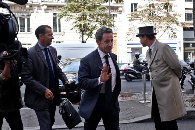 Na snímke bývalý francúzsky prezident Nicolas Sarkozy