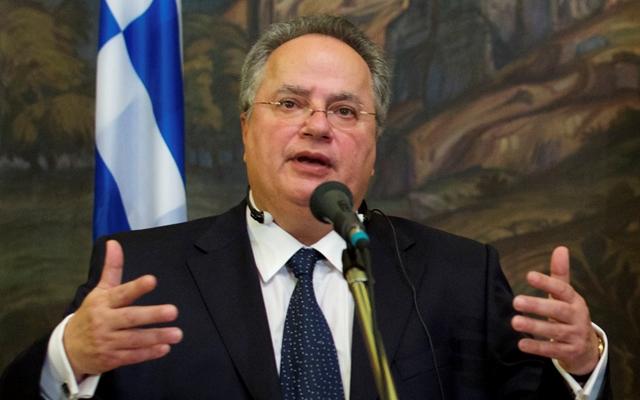 Na snímke grécky minister zahraničných vecí Nikos Kotzias