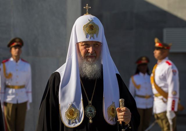 Na snímke ruský pravoslávny patriarcha Kirill