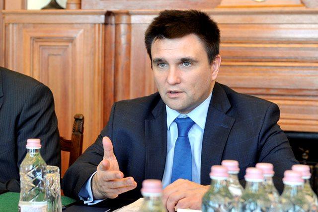 Na snímke ukrajinský minister zahraničných vecí Pavlo Klimkin