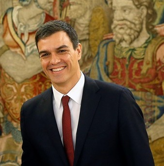 Na snímke Pedra Sánchez