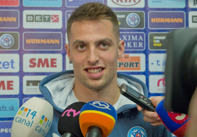 Na snímke slovenský futbalový reprezentant Róbert Mak
