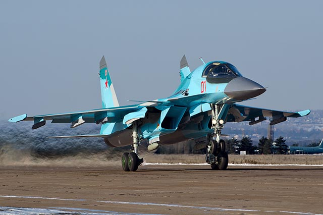 Ruské stíhacie lietadlo SU-34.