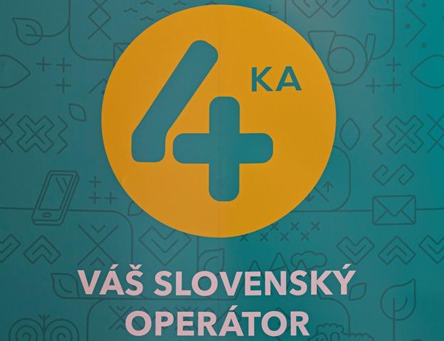 Na snímke logo 4. mobilného operátora na Slovensku pod značkou 4ka
