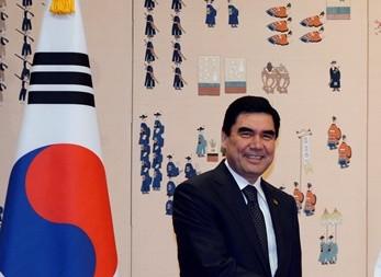 Na snímke turkménsky prezident Gurbanguli Berdymuhamedov