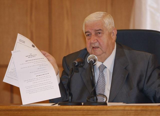Na snímke sýrsky minister zahraničných vecí Walid al-Moallem