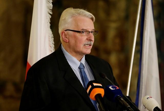 Na snímke poľský minister zahraničných vecí Witold Waszczykowski
