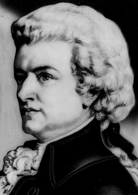 Na nedatovanej archívnej snímke portrét rakúskeho skladateľa Wolfganga Amadea Mozarta