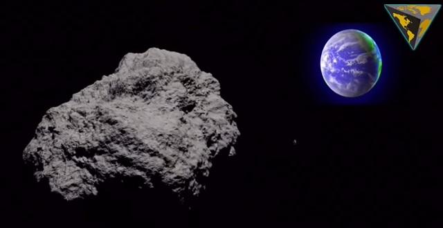 Na snímke znázornený asteroid 2013 TX68