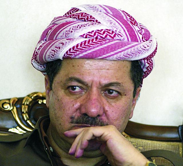 Na archívnej snímke Masúd Barzání