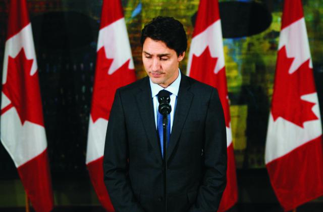 Na snímke kanadský premiér Justin Trudeau