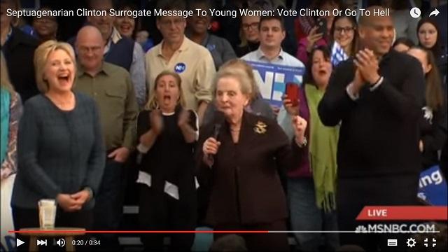 """Madeleine Albrightová: """"V pekle je speciální místo pro ženy, které nebudou volit Hillary Clintonovou!"""""""