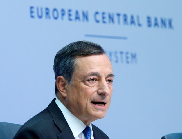Na snímke prezident Európskej centrálnej banky (ECB) Mario Draghi