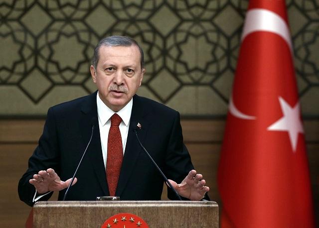 Na snímke urecký prezident Recep Tayyip Erdogan