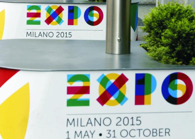Na archívnej snímke logá svetovej výstavy Expo Miláno 2015