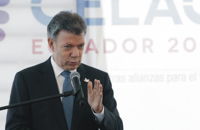 Na snímke Juan Manuel Santos
