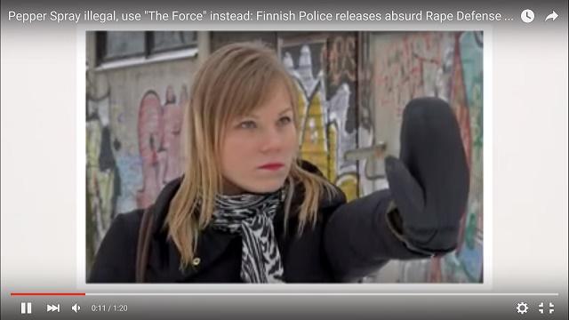 Podľa tvorcov videa stačí žene vražedný pohľad v očiach a rázny postoj rúk naznačujúci odmietnutie