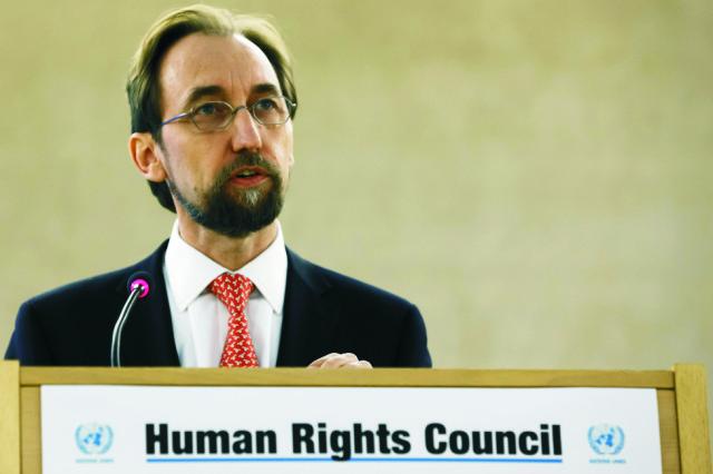 Vysoký komisár OSN pre ľudské práva Zeid Raád al Husajn