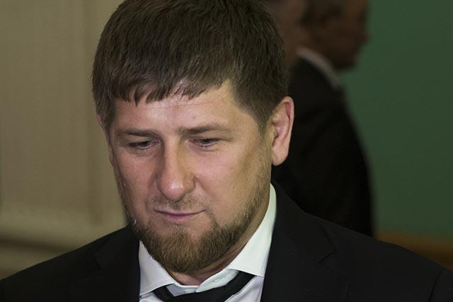 Na snímke čečenský líder Ramzan Kadyrov